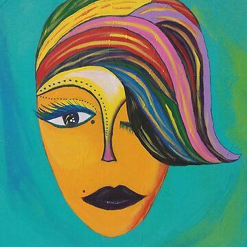 Original Artwork - Her Face by CrazyCraftLady