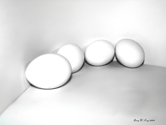 eggs - still life by Barry W  King