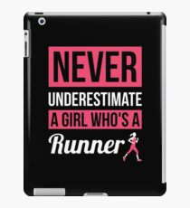 Never Underestimate A Girl Who's A Runner iPad Case/Skin