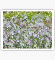 Summer image with flowers blowing in the wind. Sticker