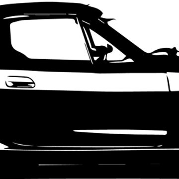 Mazda Miata / MX5 - NB Black and White simple by mudfleap