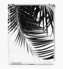 Palm Leaves Black & White Vibes #1 #tropical #decor #art iPad Case/Skin
