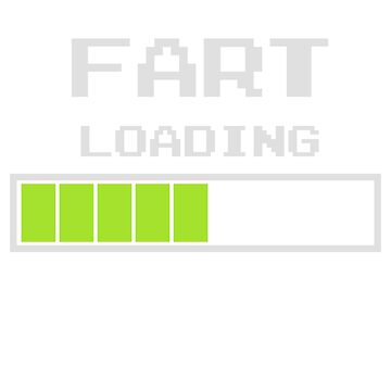 Fart Loading Funny Computer Retro T shirt T-Shirt by dubdesign