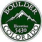 Boulder Colorado Rocky Mountains by MyHandmadeSigns