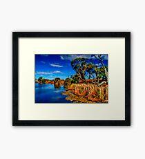 """Creekside on a Summer Afternoon"" Framed Print"