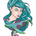 «Chica ballena tatuaje / tattoo» de Galbrin