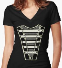 Jackson Military Chest Plate from HIStory March Women's Fitted V-Neck T-Shirt