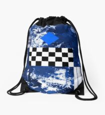Blue Diamond Drawstring Bag