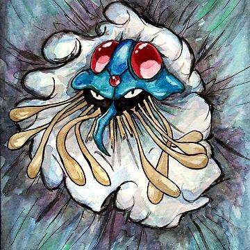Tentacruel watercolour. by Nintendart