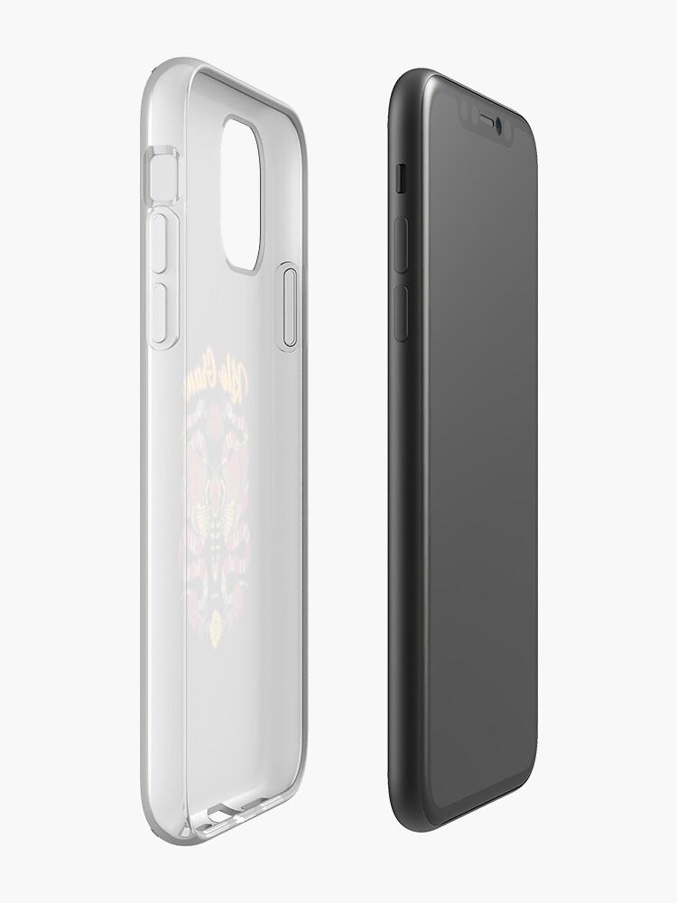 coque iphone xs max tommy hilfiger , Coque iPhone «Molth Serpent Roses», par docm