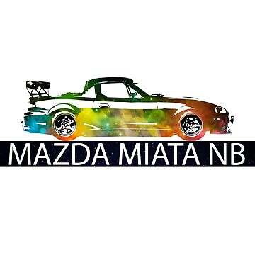 Mazda Miata / MX5 NB - Colourful print by mudfleap