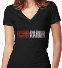 Tomb Raider 2018 Women's Fitted V-Neck T-Shirt