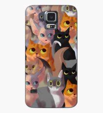 Viele Katzen Hülle & Klebefolie für Samsung Galaxy