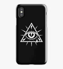 All Seeing Eye - White iPhone Case