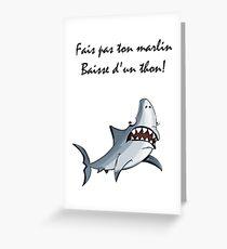 humour POISSON MER Greeting Card
