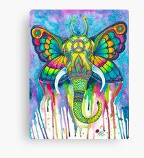 Butterfly Elephant Canvas Print