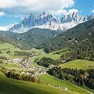 Picturesque Village in Dolomites (Val di Funes) by Hotaik  Sung