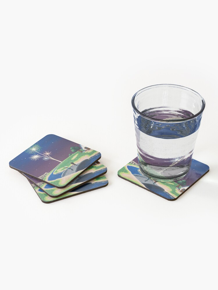 Alternate view of New Year Coasters (Set of 4)
