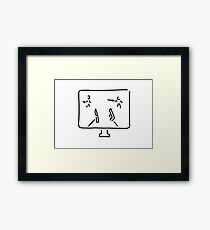 egoshooter computer game shooting game Framed Print