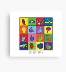 Hand Signs Rubik by DeLaFont Canvas Print