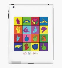 Hand Signs Rubik by DeLaFont iPad Case/Skin