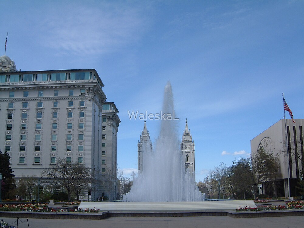 Downtown Temple Square by WaleskaL