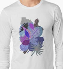 Ultraviolet Fade Nature Leaves Long Sleeve T-Shirt