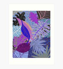 Ultraviolet Fade Nature Leaves Art Print