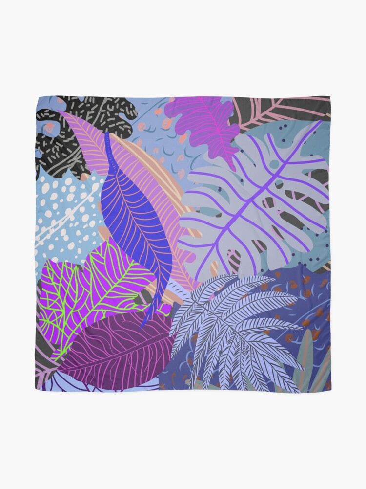 Alternate view of Ultraviolet Fade Nature Leaves Scarf