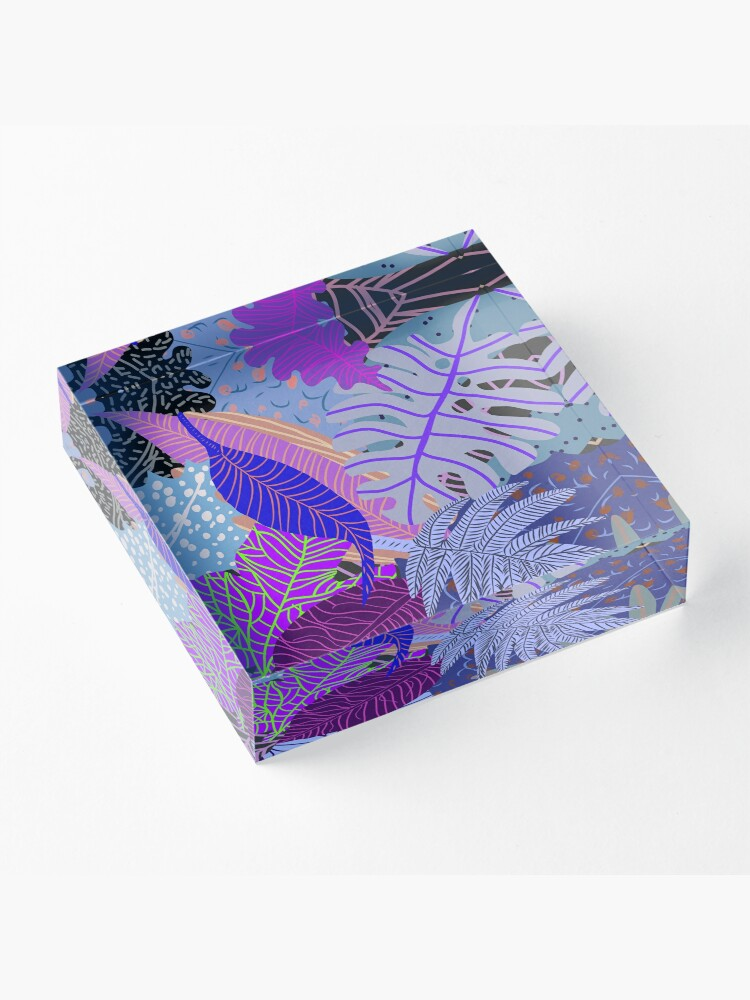 Alternate view of Ultraviolet Fade Nature Leaves Acrylic Block
