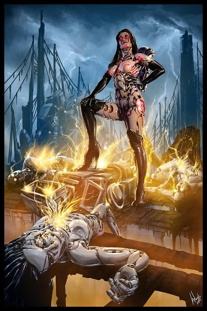 Robot Overlord Illustration 001 by Ian Sokoliwski