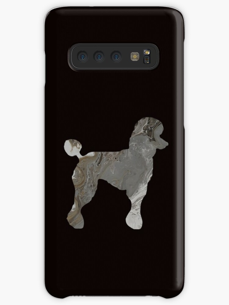 Grey Poodle Abstract Fluid Acrylic Painting Caseskin For Samsung Galaxy By Colorflowart