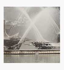Captain Cook Fountain, Newcastle NSW Photographic Print