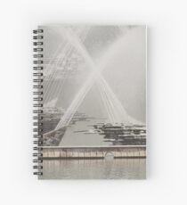 Captain Cook Fountain, Newcastle NSW Spiral Notebook