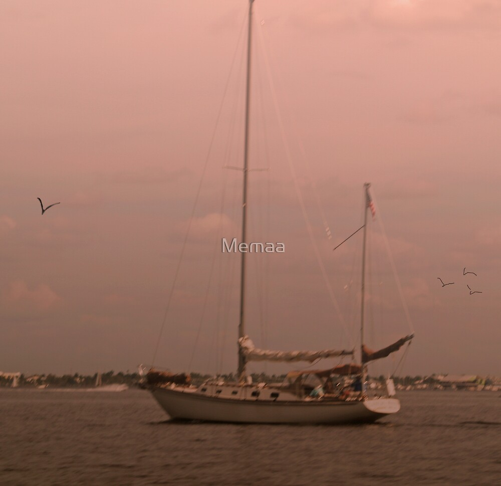Sailboat On A Misty Morn by Memaa