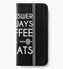 Coffee & Squats iPhone Wallet/Case/Skin