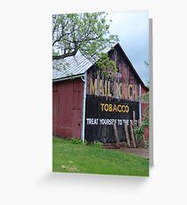 Mail Pouch Tobacco Greeting Card