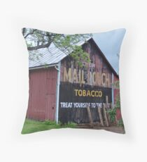 Mail Pouch Tobacco Throw Pillow
