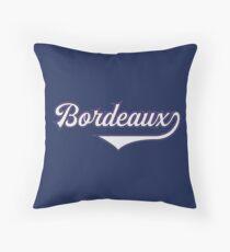Bordeaux - France - Vintage Sports Typography Throw Pillow