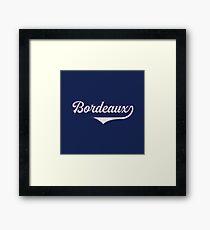 Bordeaux - France - Vintage Sports Typography Framed Print
