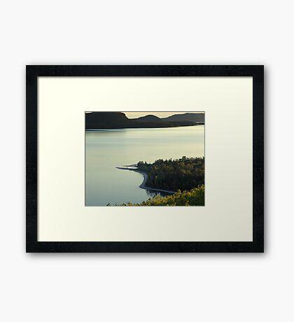 Quiet Evening at Nipigon Bay Framed Print