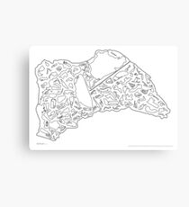 Race Tracks to Scale - Plain Layouts Canvas Print