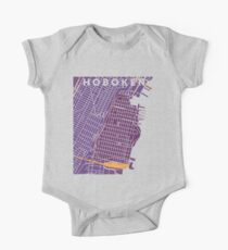 Hoboken NJ City Map One Piece - Short Sleeve