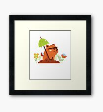 Funny and Awsome Happy Groundhog Day TShirt Framed Print