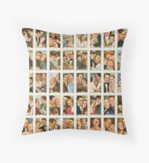 48 Famous movie couples from the 1930s Throw Pillow