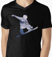 Snowboard  Men's V-Neck T-Shirt