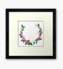 Flower Wreath Framed Print