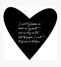 lashes heart Photographic Print
