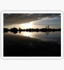 Pond with Sunset Sticker