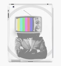businessman with tv head iPad Case/Skin